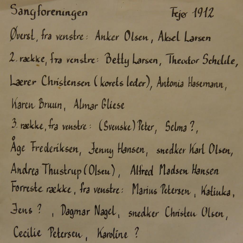 Medlemmer af Afholdssamfundets Sangforening 1912