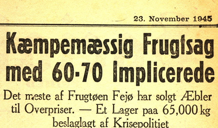 Frugtsagen i 1945