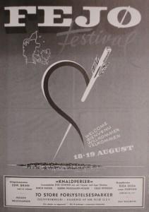 Plakat Fejø Festival 1956