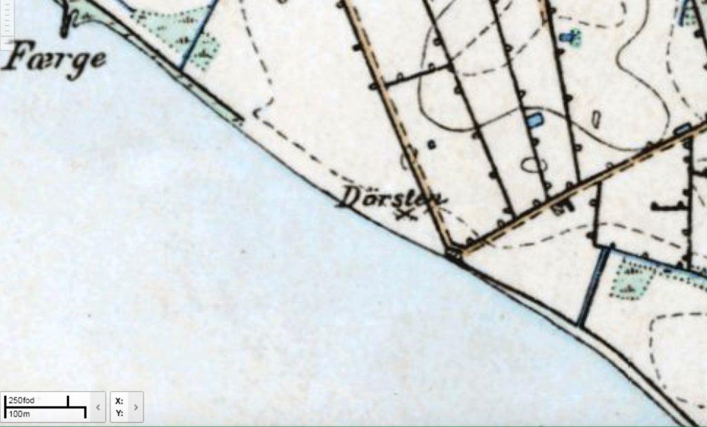 Høje målebordsblad 1842 - 1899. Geodatastyrelsen.
